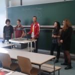 La présentation de notre faculté devant les étudiants allemands